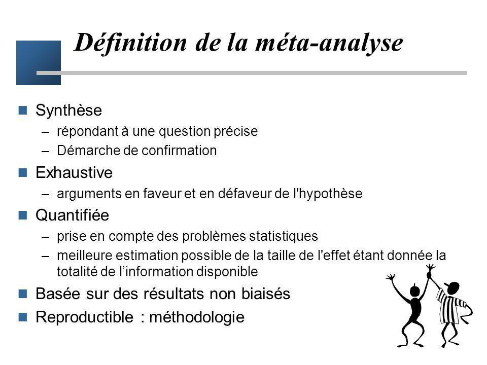 Définition de la méta-analyse