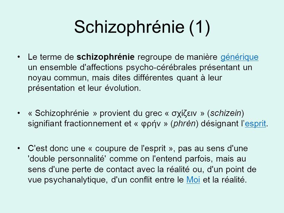 Schizophrénie (1)