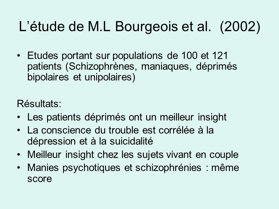 L'étude de M.L Bourgeois et al. (2002)
