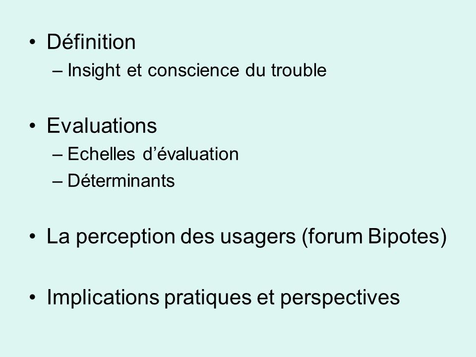 La perception des usagers (forum Bipotes)