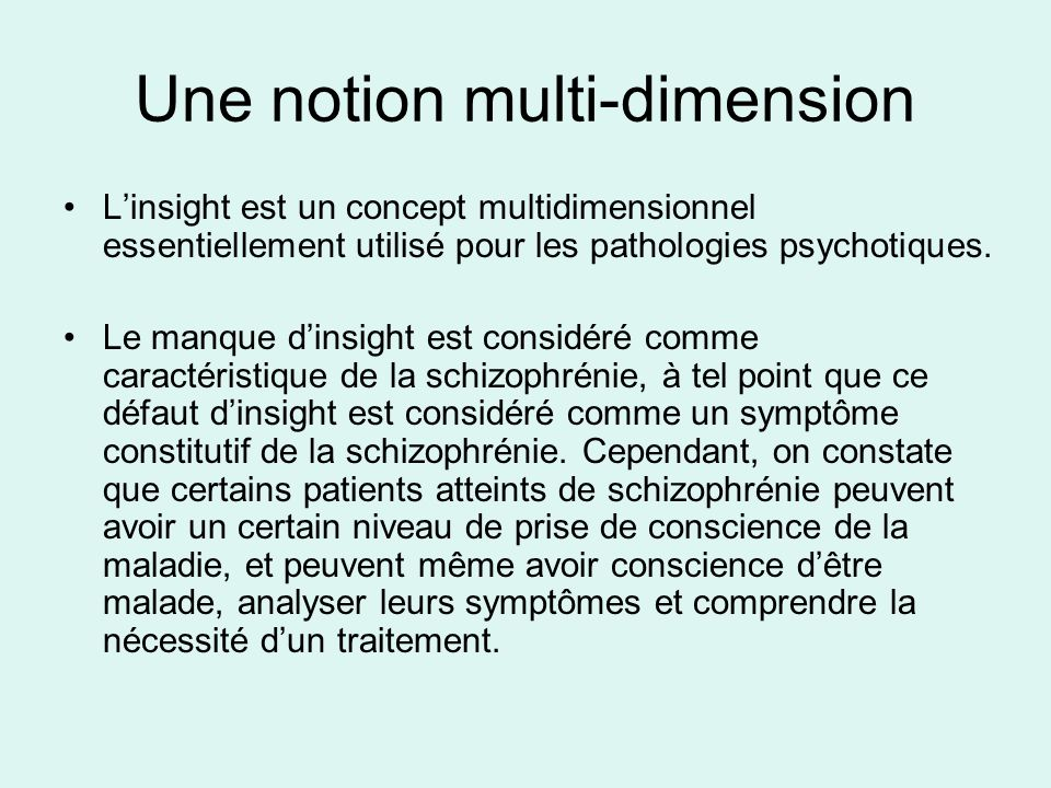 Une notion multi-dimension
