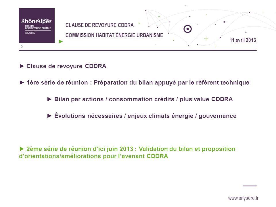 Clause de revoyure CDDRA