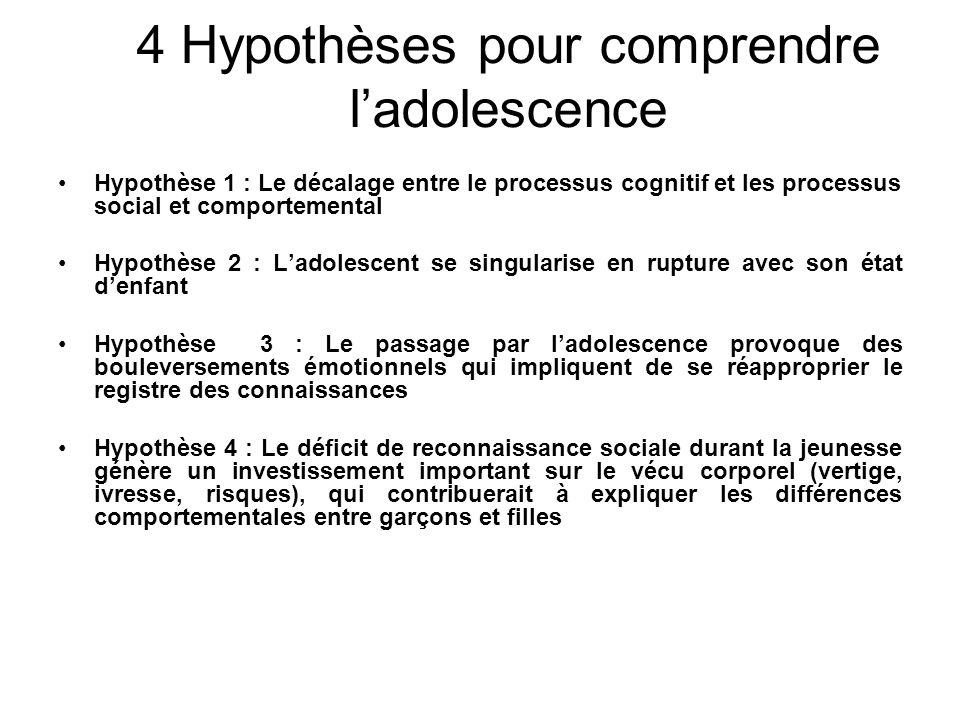 4 Hypothèses pour comprendre l'adolescence