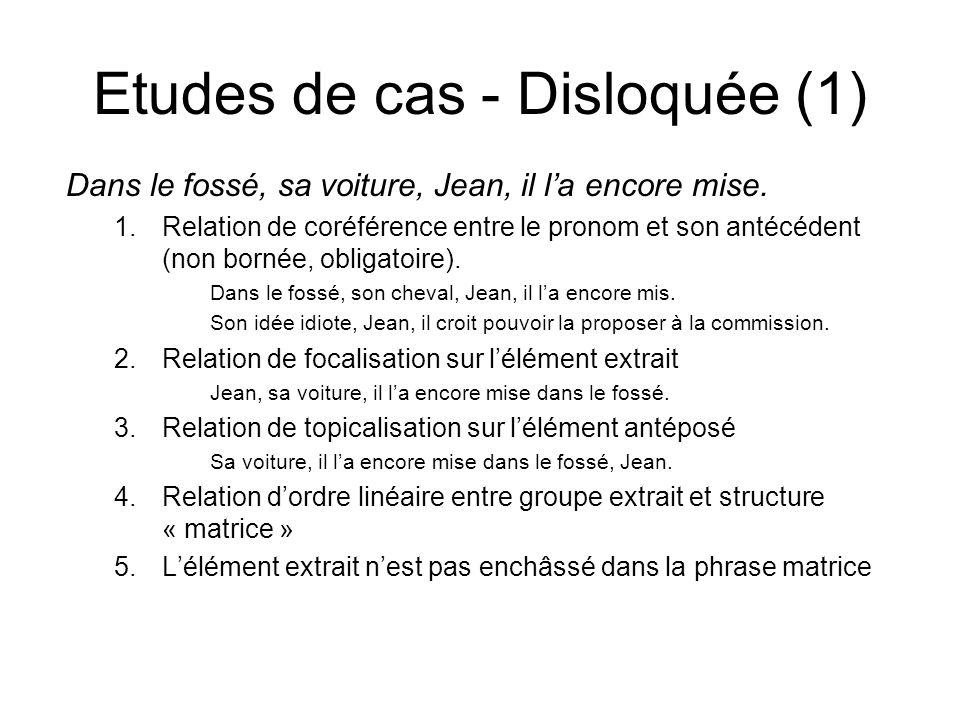 Etudes de cas - Disloquée (1)