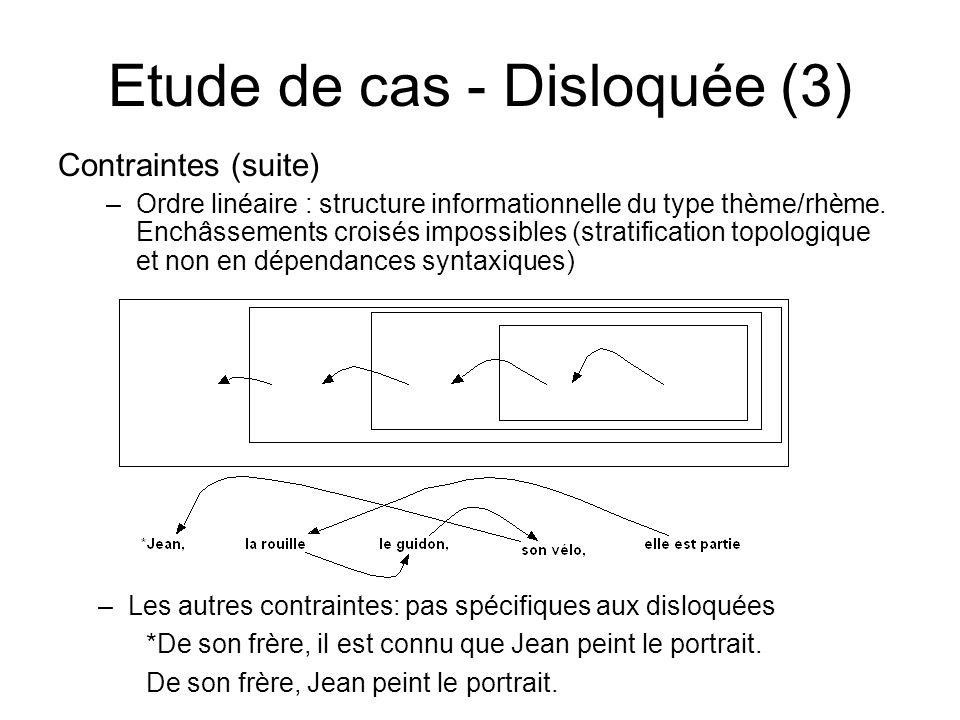 Etude de cas - Disloquée (3)