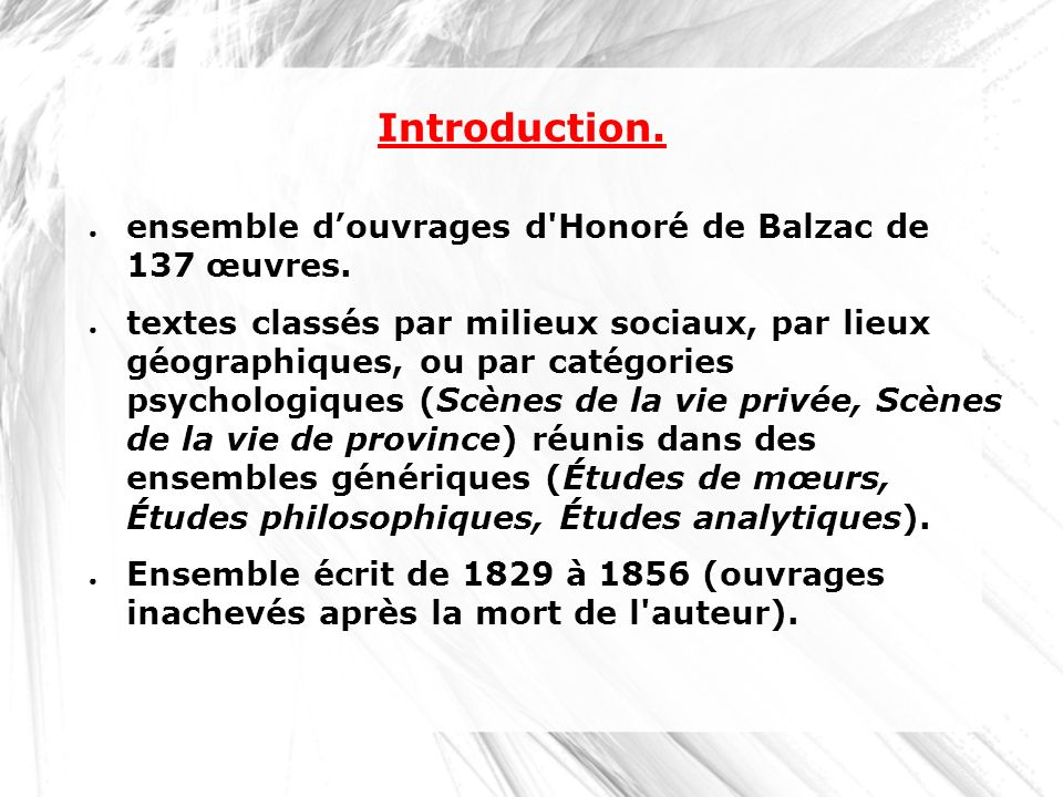 Introduction. ensemble d'ouvrages d Honoré de Balzac de 137 œuvres.