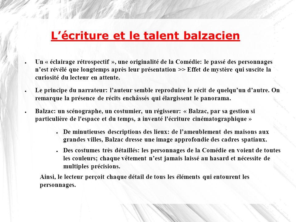 L'écriture et le talent balzacien
