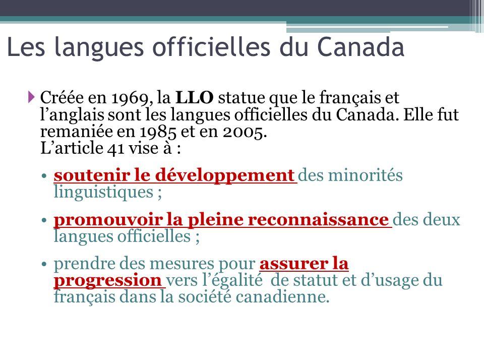 Les langues officielles du Canada