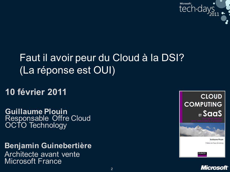 Faut il avoir peur du Cloud à la DSI (La réponse est OUI)