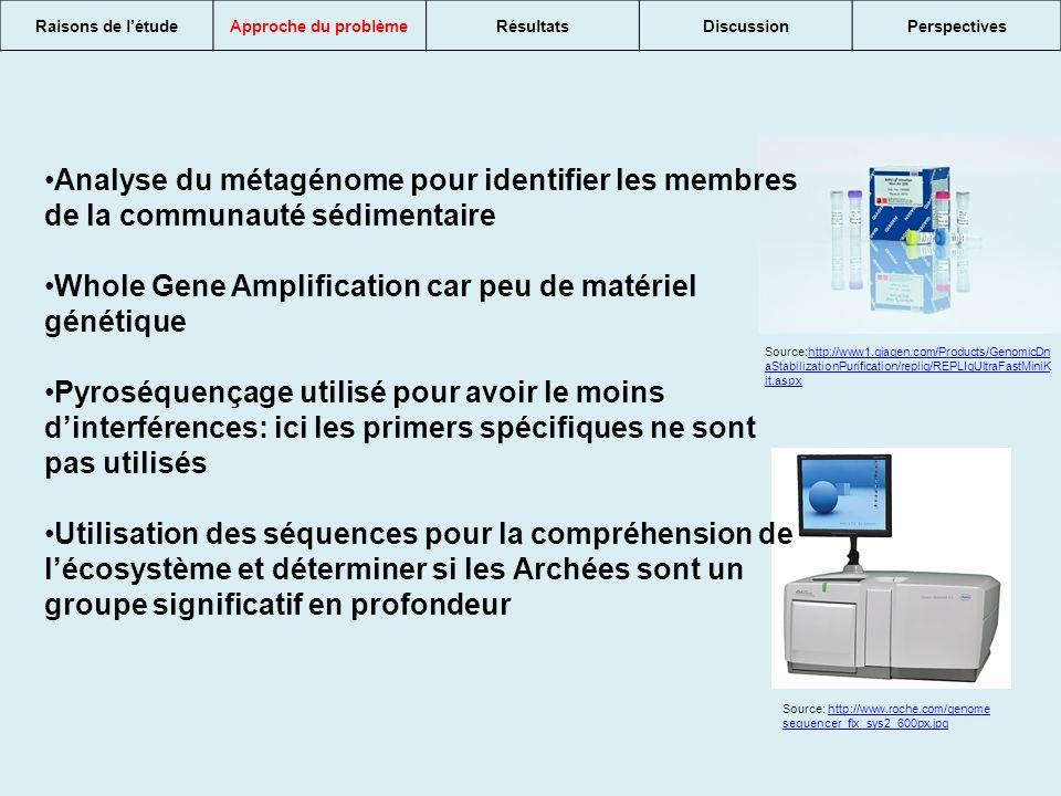 Whole Gene Amplification car peu de matériel génétique
