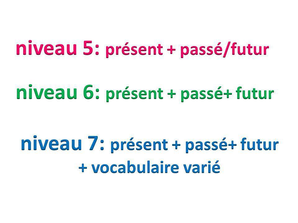 niveau 5: présent + passé/futur