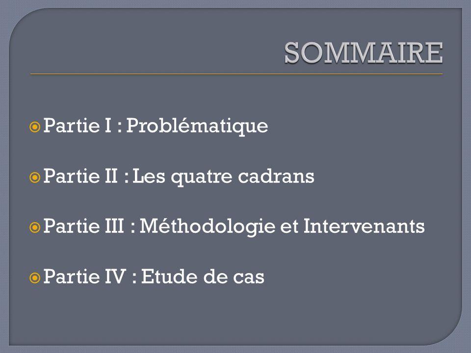SOMMAIRE Partie I : Problématique Partie II : Les quatre cadrans
