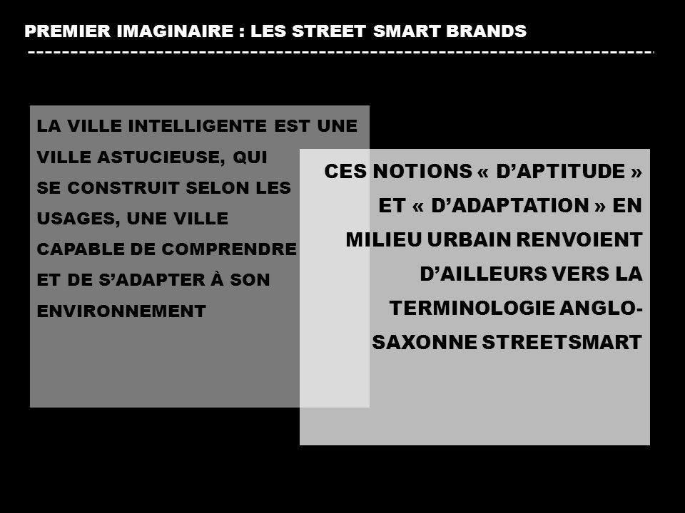 PREMIER IMAGINAIRE : LES STREET SMART BRANDS