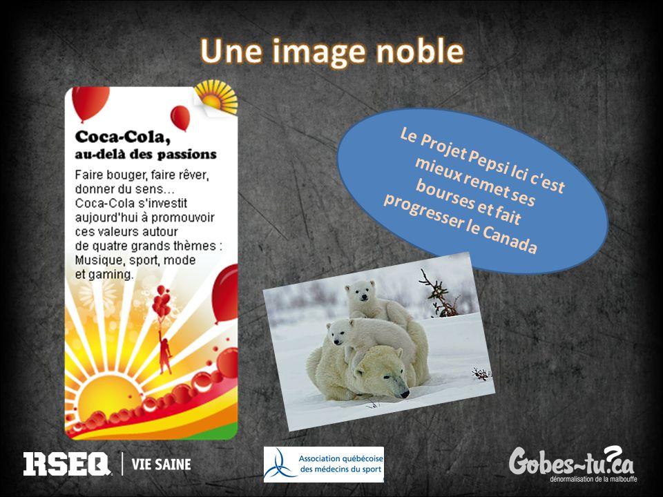 Une image noble Le Projet Pepsi Ici c est mieux remet ses bourses et fait progresser le Canada.
