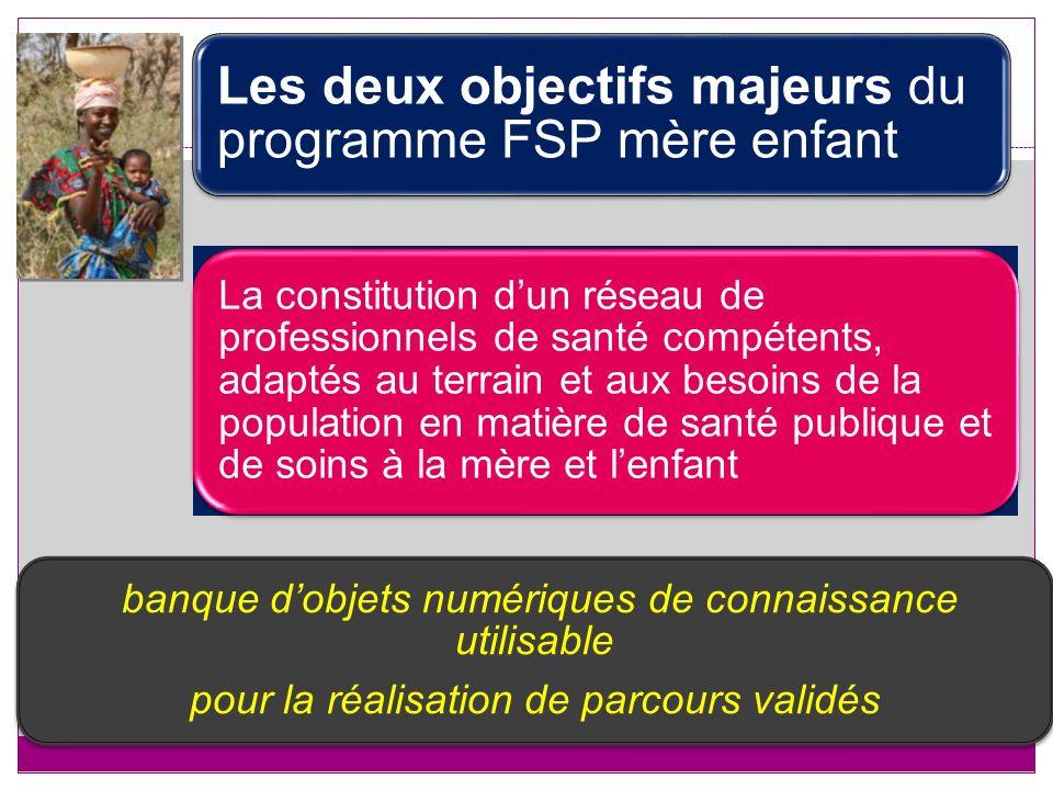 Les deux objectifs majeurs du programme FSP mère enfant