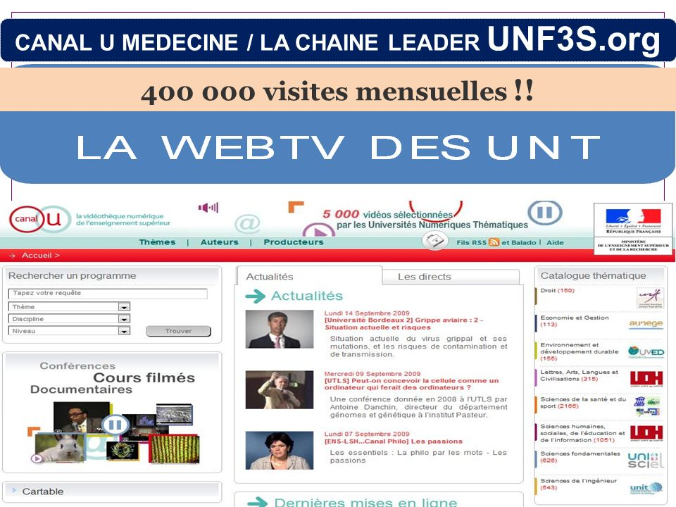 CANAL U MEDECINE / LA CHAINE LEADER UNF3S.org