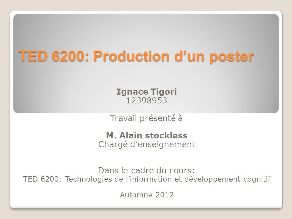 TED 6200: Production d'un poster