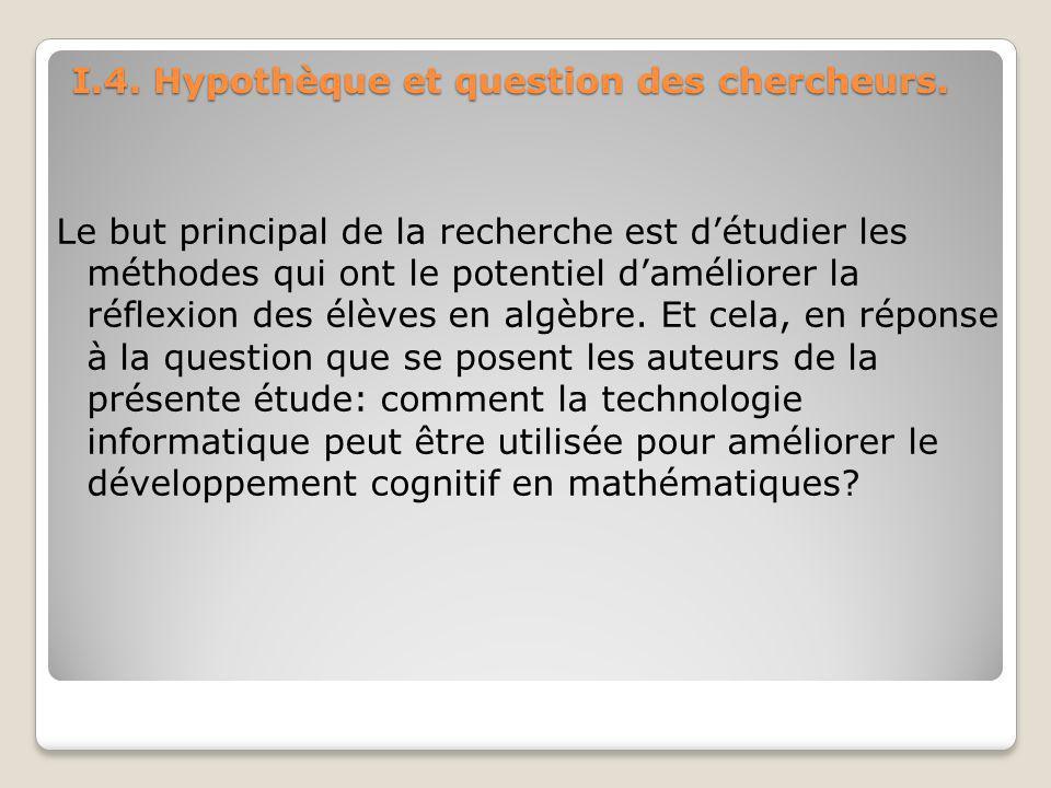 I.4. Hypothèque et question des chercheurs.