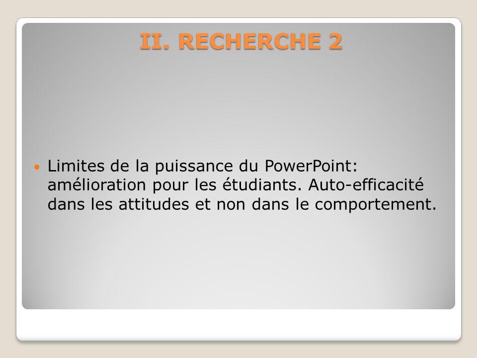 II. RECHERCHE 2