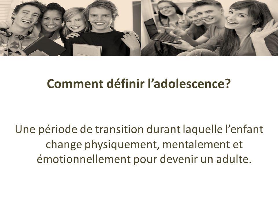 Comment définir l'adolescence