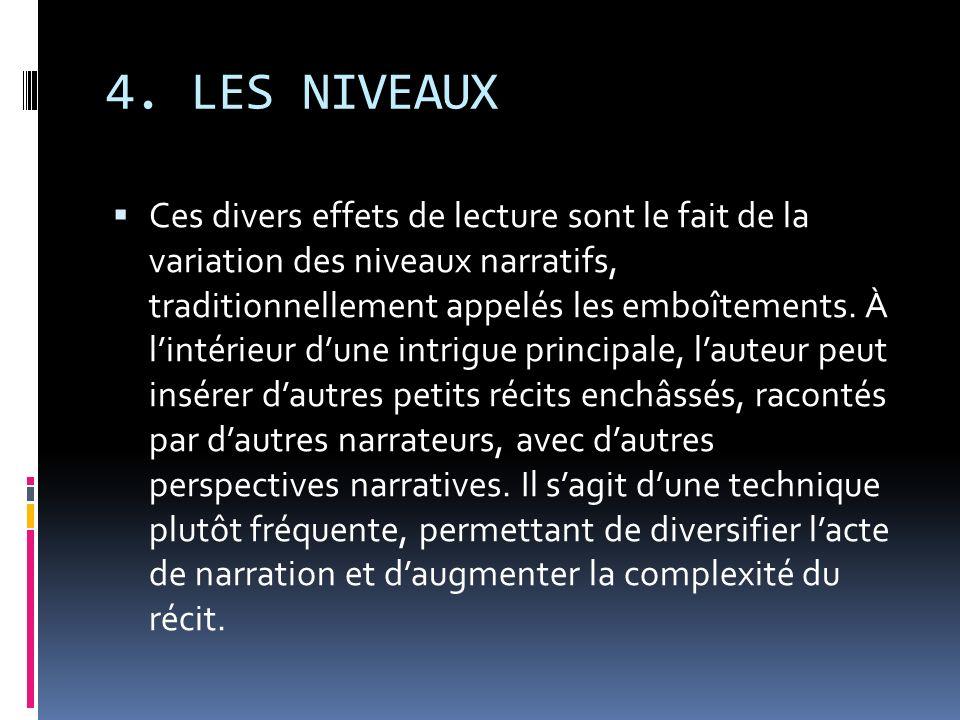 4. LES NIVEAUX