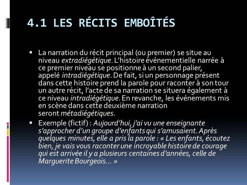4.1 LES RÉCITS EMBOÎTÉS