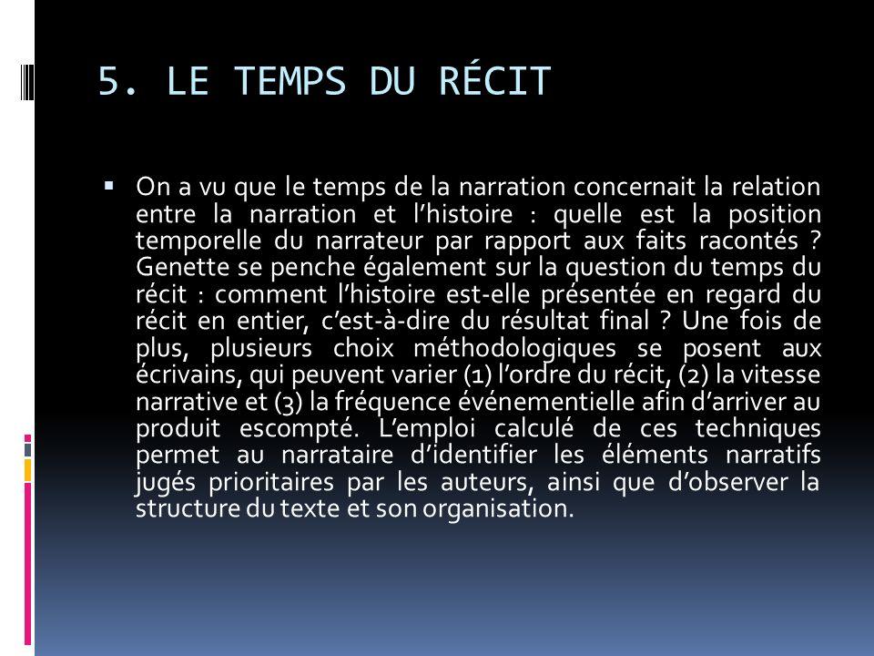 5. LE TEMPS DU RÉCIT