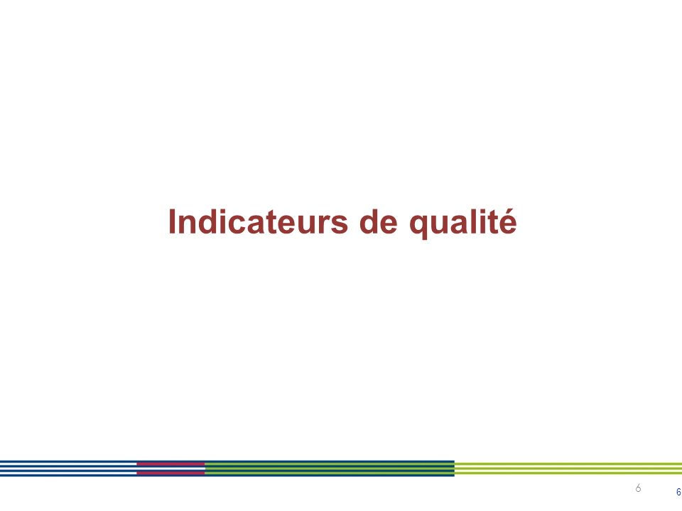 Indicateurs de qualité