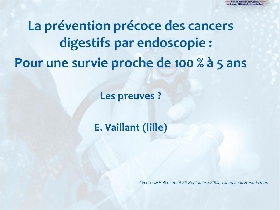 La prévention précoce des cancers digestifs par endoscopie :