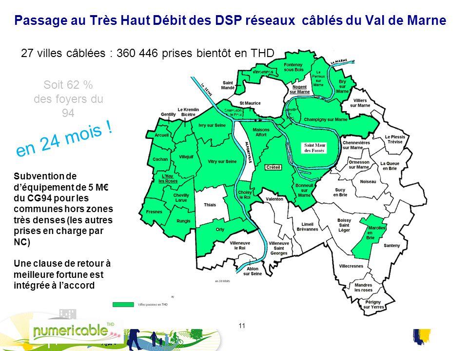 Passage au Très Haut Débit des DSP réseaux câblés du Val de Marne