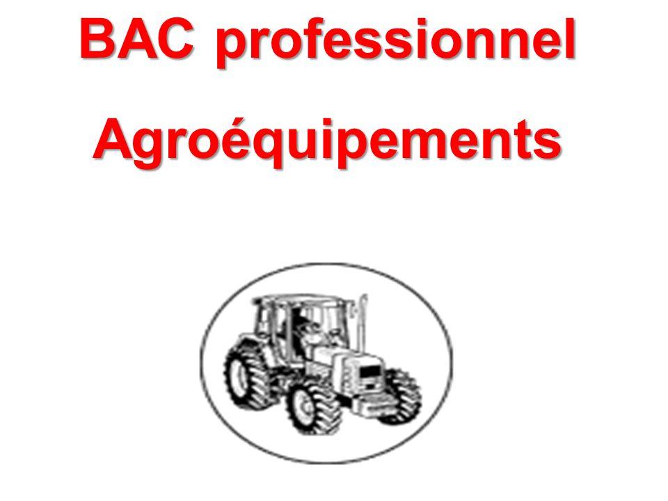 BAC professionnel Agroéquipements