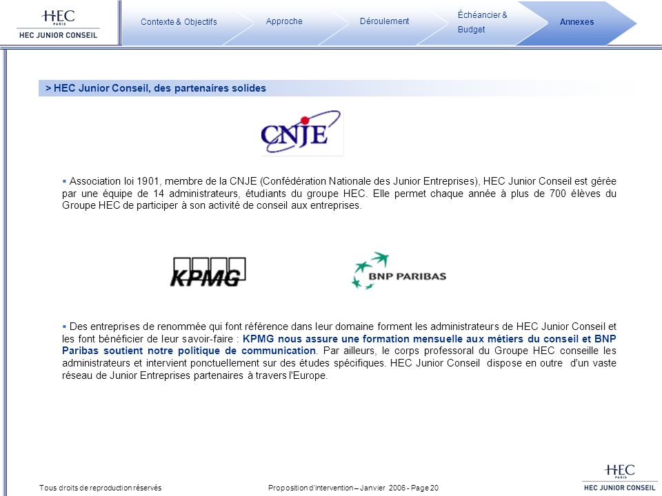 > HEC Junior Conseil, des partenaires solides