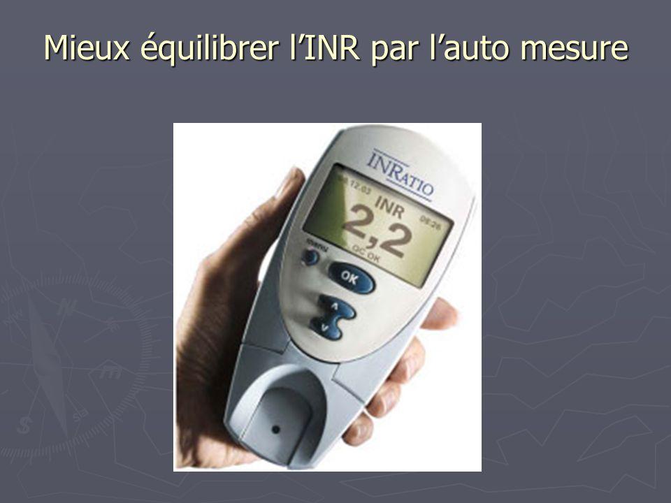 Mieux équilibrer l'INR par l'auto mesure