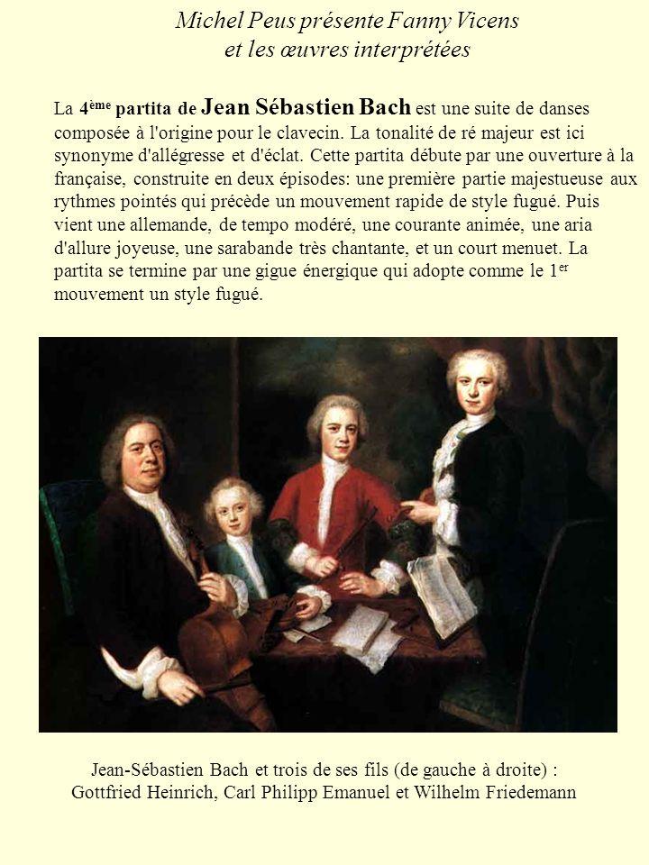 Michel Peus présente Fanny Vicens et les œuvres interprétées