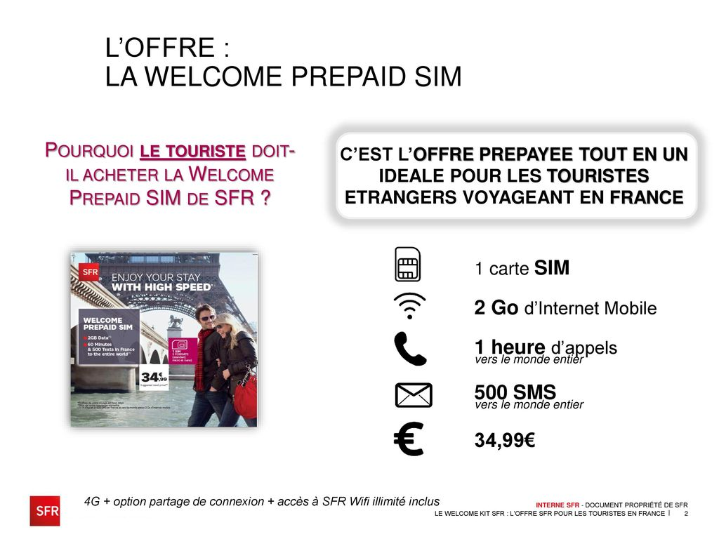 la welcome prepaid sim l offre sfr pour les touristes en france ppt t l charger. Black Bedroom Furniture Sets. Home Design Ideas