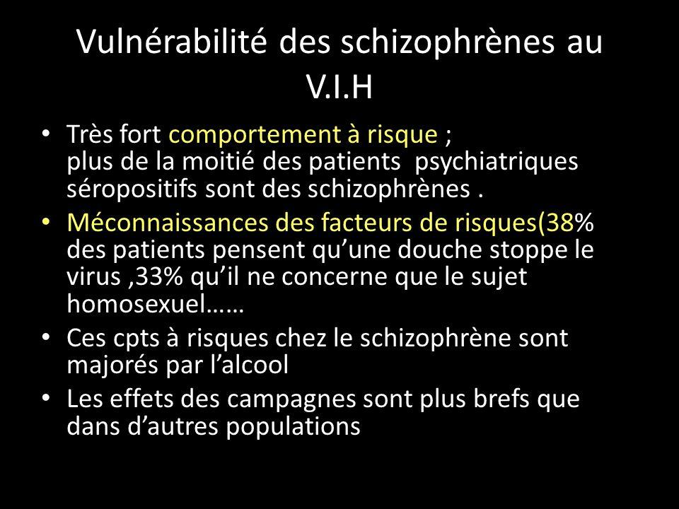 Vulnérabilité des schizophrènes au V.I.H