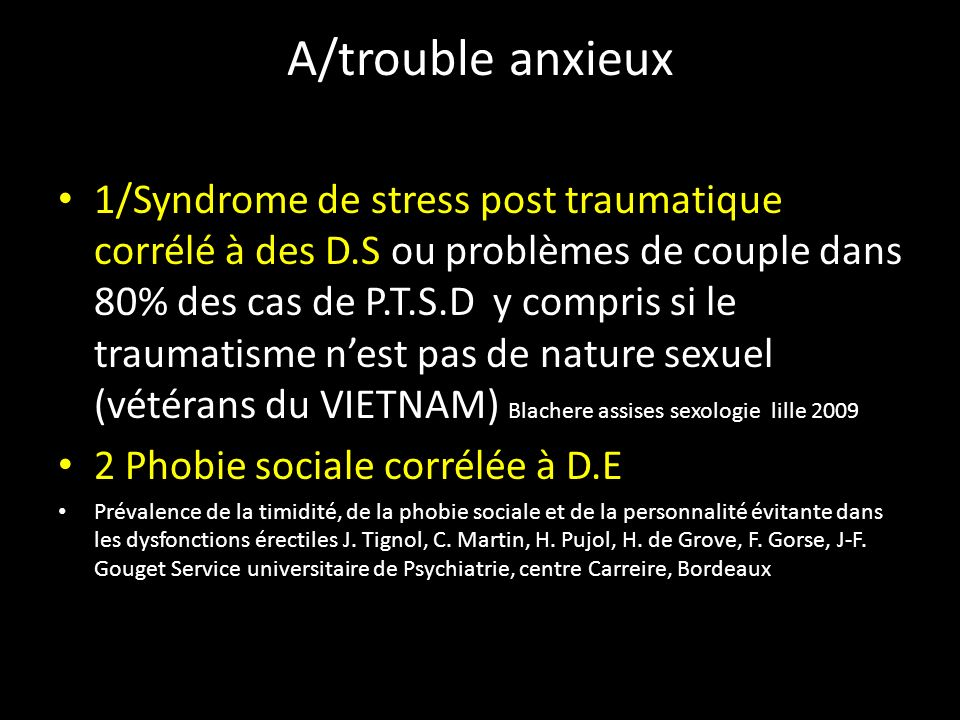 A/trouble anxieux