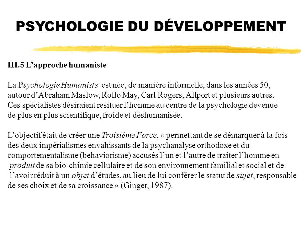 PSYCHOLOGIE DU DÉVELOPPEMENT