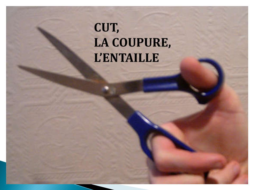 CUT, LA COUPURE, L'ENTAILLE