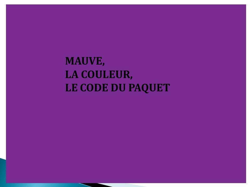 MAUVE, LA COULEUR, LE CODE DU PAQUET