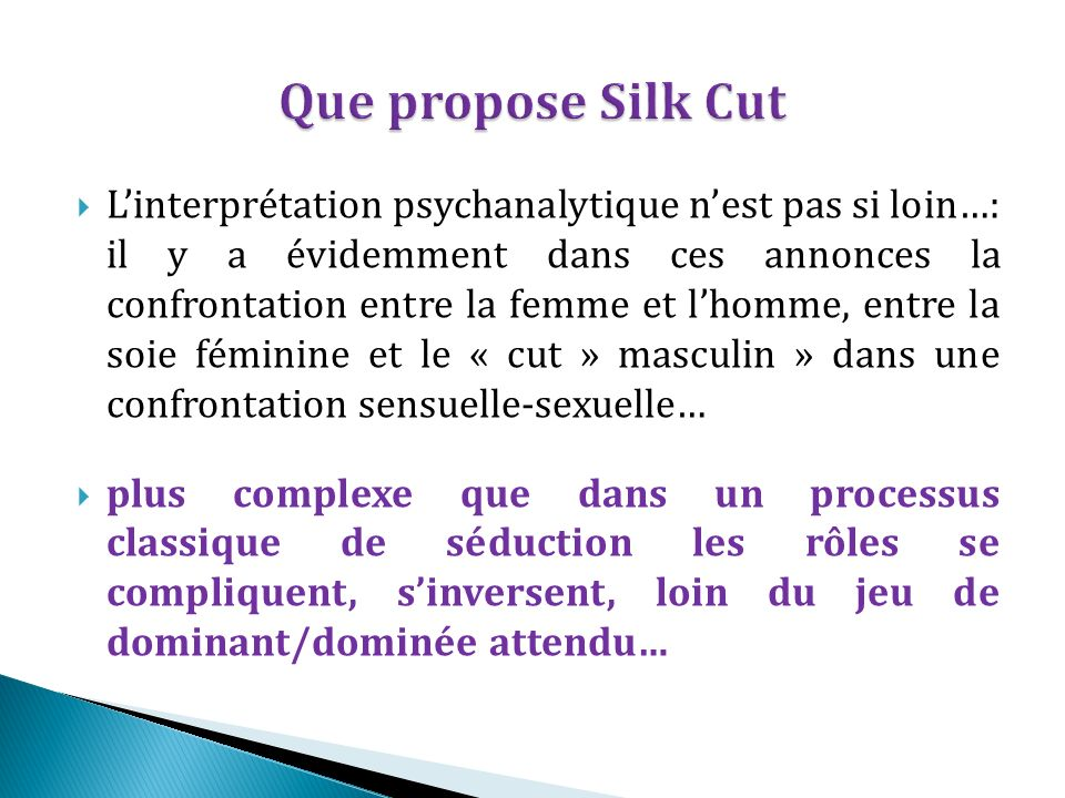 Que propose Silk Cut