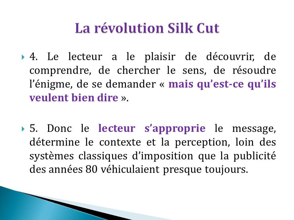 La révolution Silk Cut