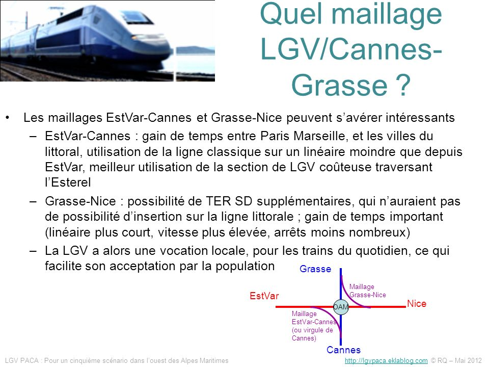 Quel maillage LGV/Cannes-Grasse