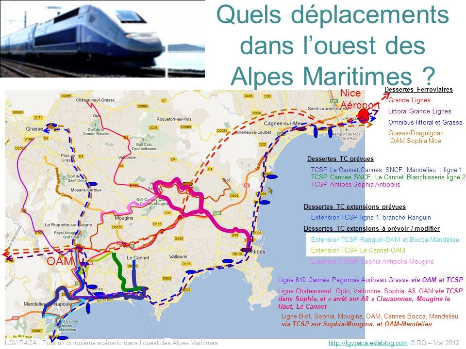 Quels déplacements dans l'ouest des Alpes Maritimes