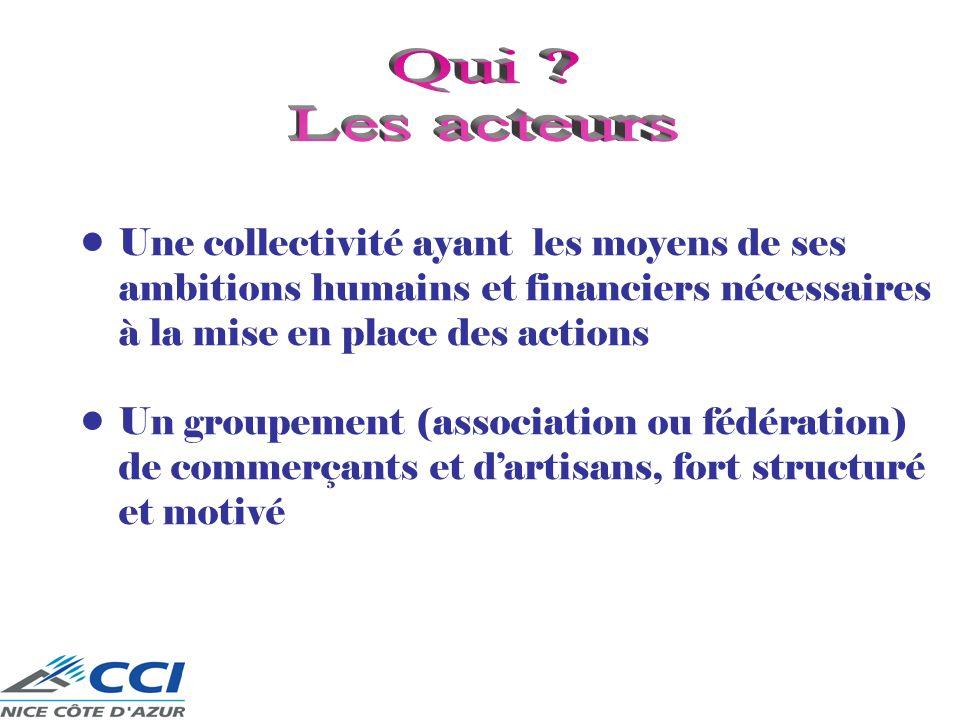 Qui Les acteurs. Une collectivité ayant les moyens de ses ambitions humains et financiers nécessaires à la mise en place des actions.
