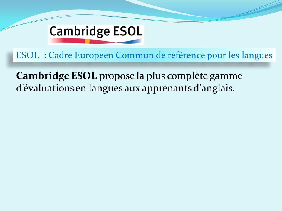…en chiffres ESOL : Cadre Européen Commun de référence pour les langues.