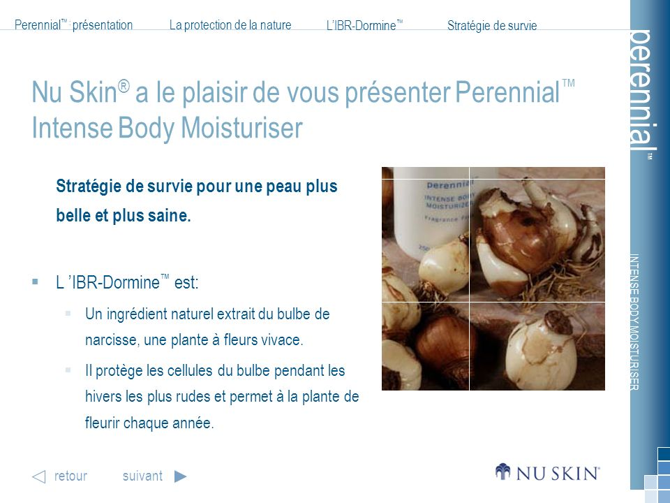 Nu Skin® a le plaisir de vous présenter Perennial™ Intense Body Moisturiser