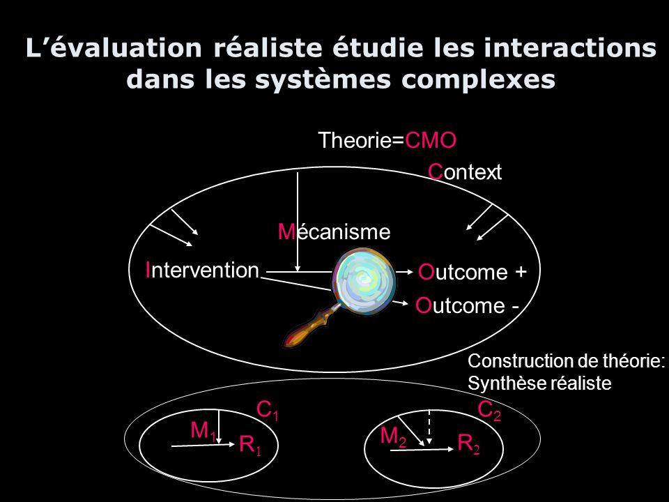 L'évaluation réaliste étudie les interactions dans les systèmes complexes