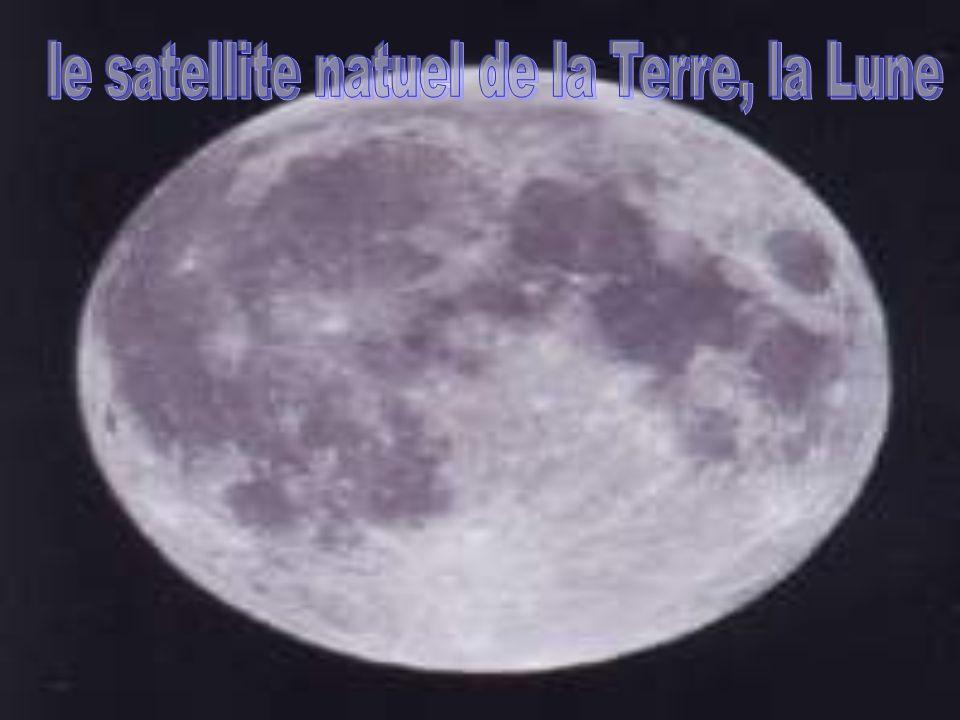 le satellite natuel de la Terre, la Lune