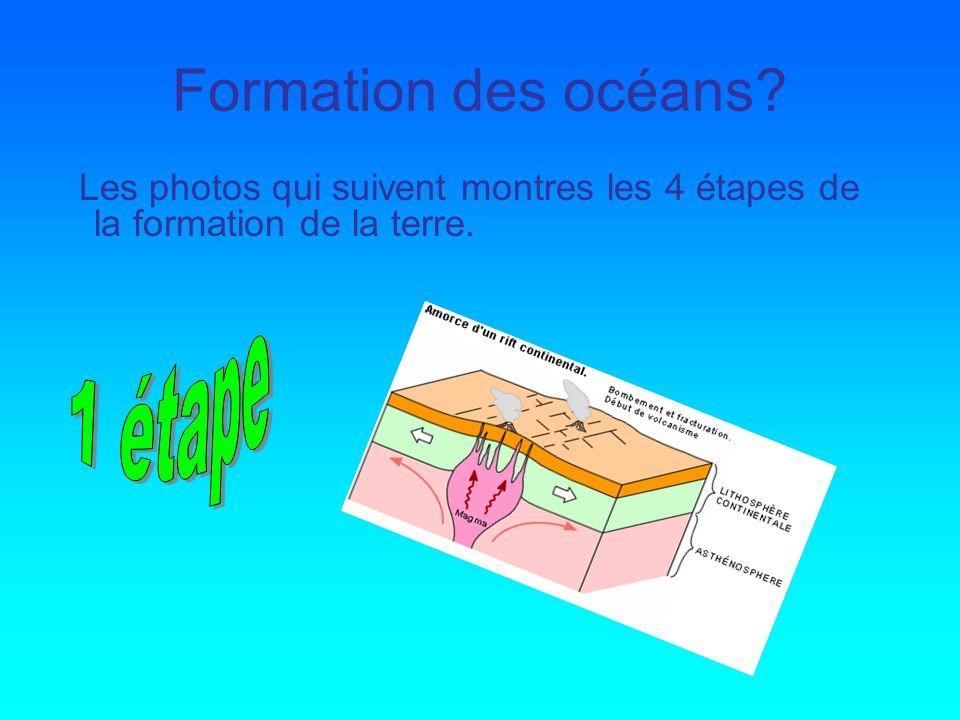 Formation des océans 1 étape